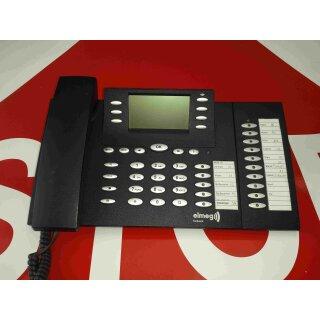 elmeg CS 410 U CS410U Systemtelefon mit Headsetanschluss schwarz +Tastaturerweiterung T400/2 RG MwSt.