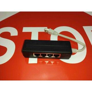 4 fach Verteiler Adapter für ISDN RJ45 für NTBA