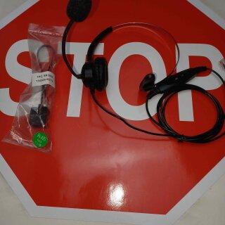 Headset für Elmeg Telefon Elmeg IP S400 CS 410, 410U Systemtelefon mit Adapter für RJ45 MwSt. Händler