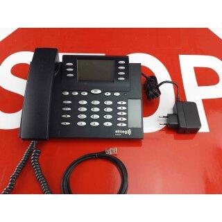 Elmeg IP-S400 Systemtelefon schwarz mit Netzteil  RE MwSt Händler