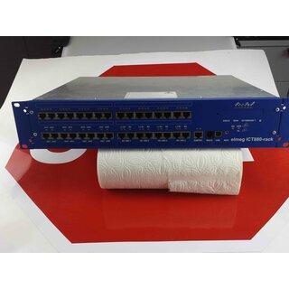 Elmeg ICT880-rack  ISDN Telefonanlage Grundanlage mit  Winkel  mit 2 Anschlussfeldern Rechnung MwSt.Händler