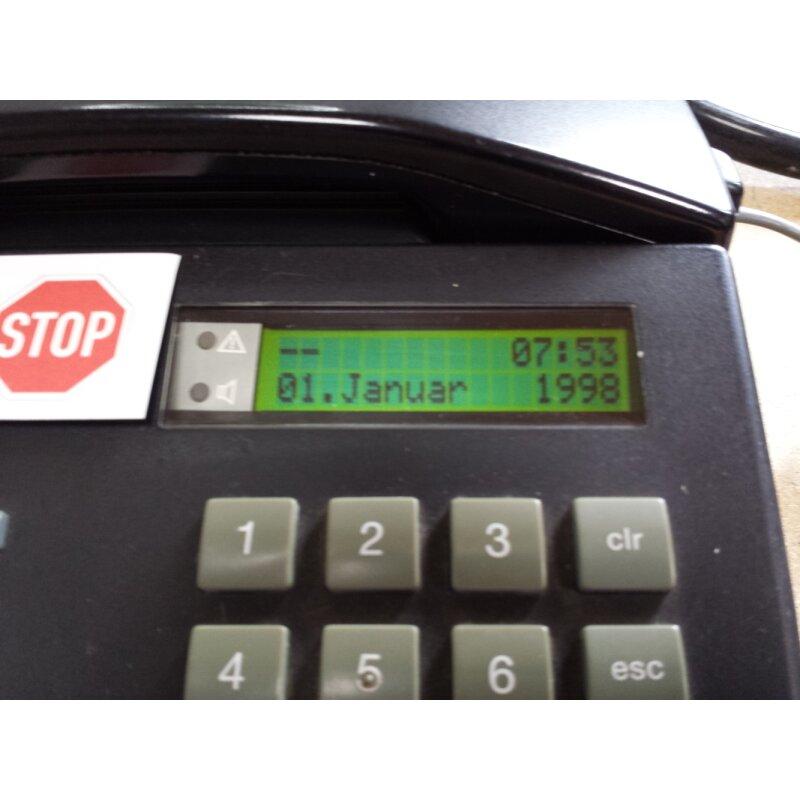 Display neu 4 Tasten Telekom Systemtelefon Eumex 312  Focus L Modell 62 schwarz