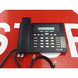 Elmeg  CS 290U  CS290U Systemtelefon ISDN  schwarz Rechnung MwSt Händler