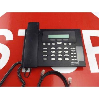elmeg  CS 290U  CS290U Systemtelefon ISDN  schwarz Rechnung MwSt Händler (schwarz-blau)