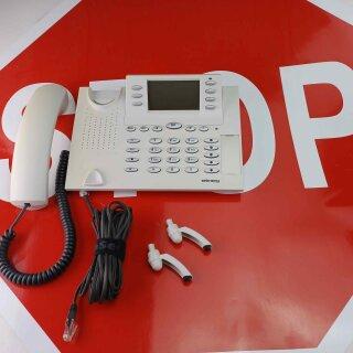elmeg  CS 410 U  CS410U Up0 Systemtelefon mit Headsetanschluss beige weiß RG MwSt.
