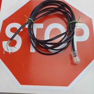 AGFEO Eumex elmeg ISDN Kabel 2m RJ45 Stecker Ende mit Aderendhülsen (verzinnt) für Klemmen